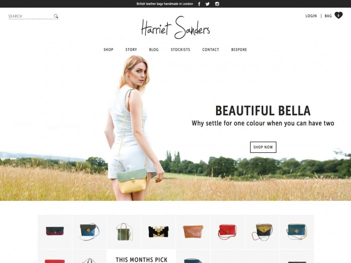 harriet sanders - home page