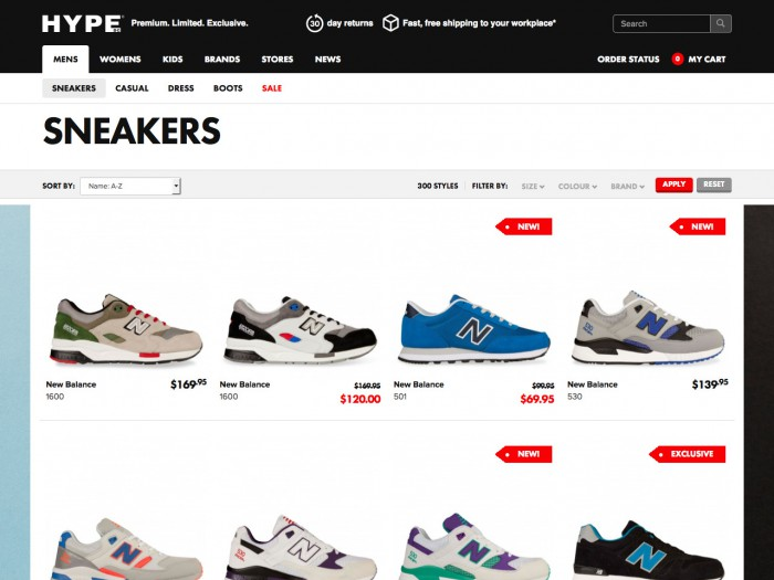 hype - category page