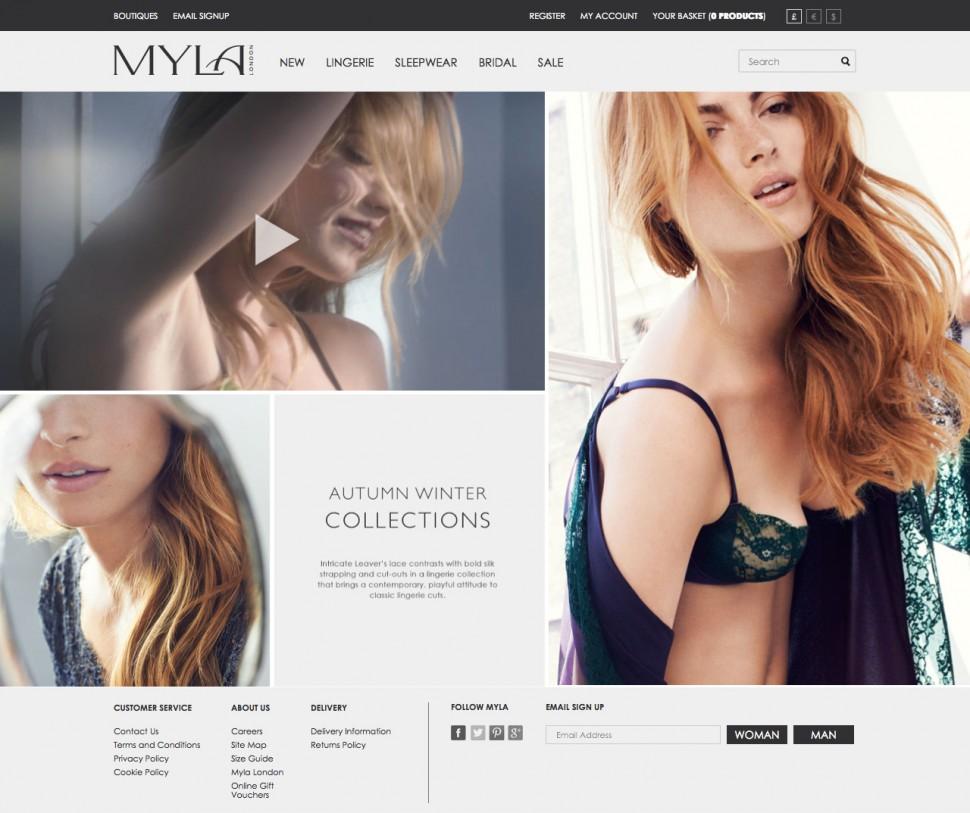 myla - home page