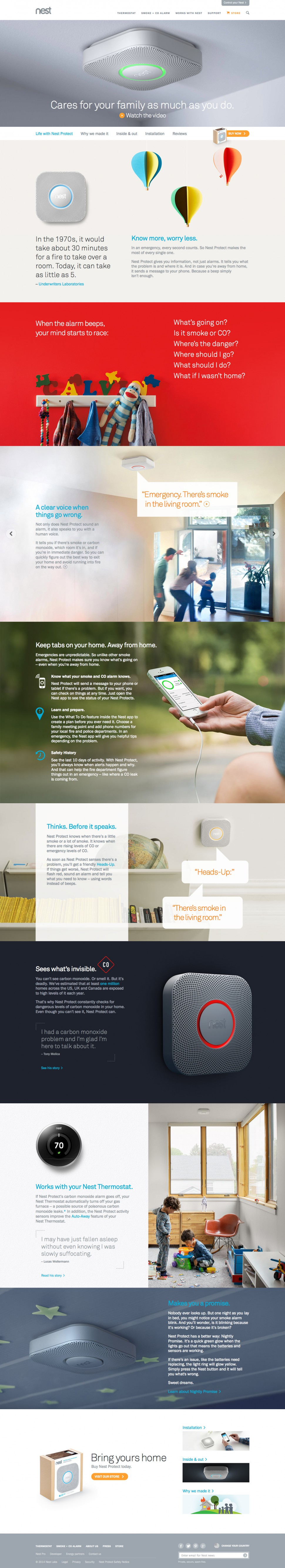 nest protect - landing page