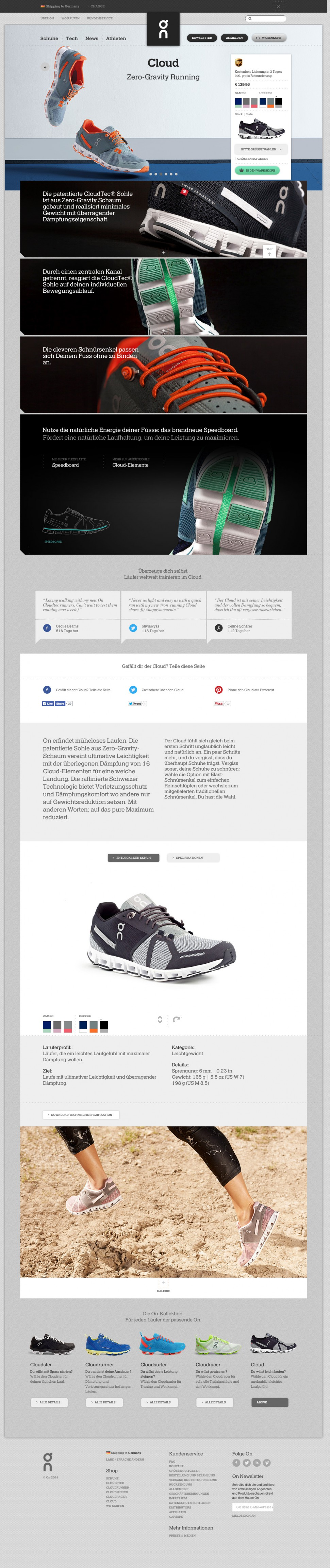 On Running - Product Page
