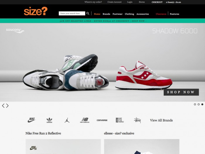size - home page