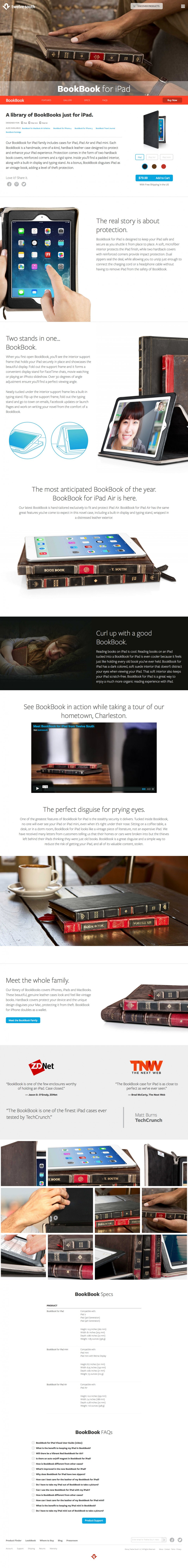 twelve south - product page