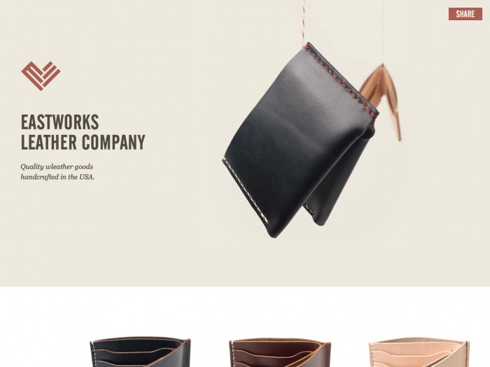 eastworks leather company - home page