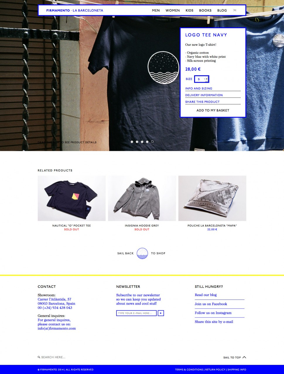 firmamento - product page
