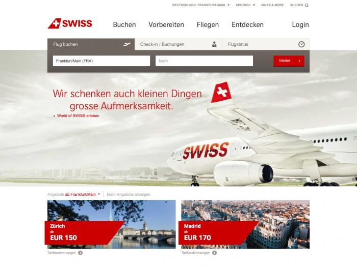 swiss - home page