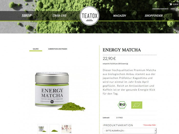 teatox - product page