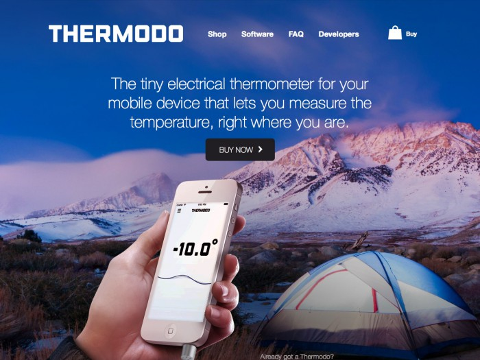 thermodo - landing page