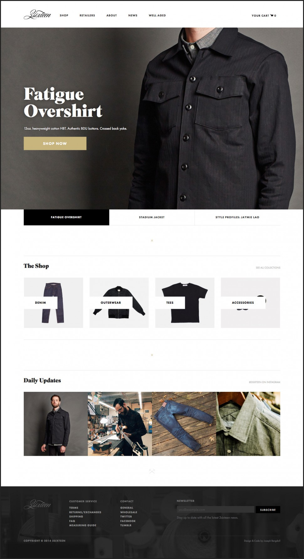 3sixteen - home page