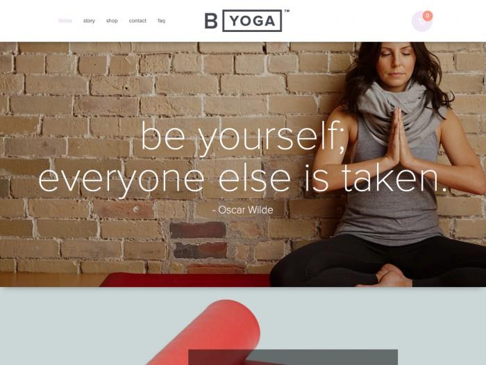 b yoga - home page