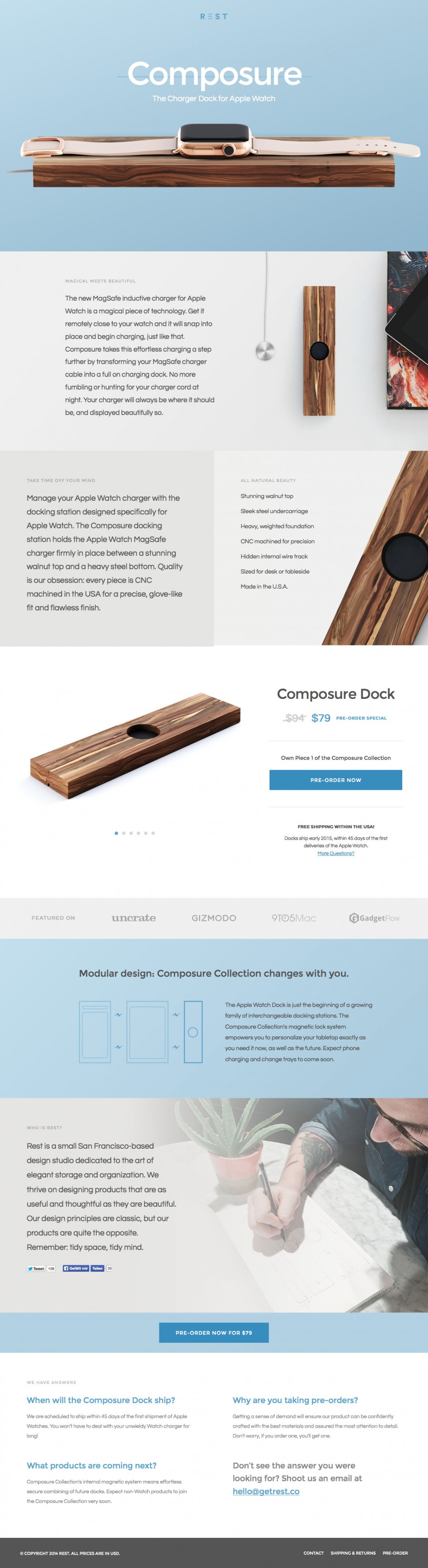 rest - landing page
