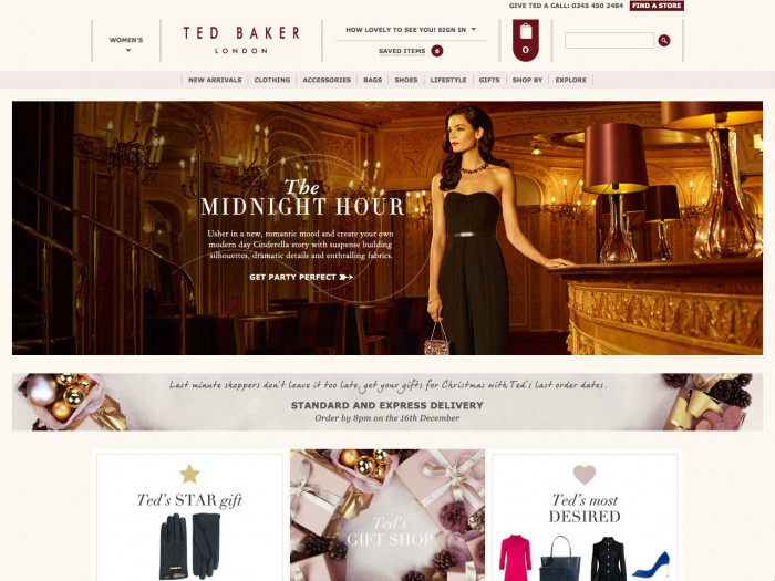 ted baker - home page