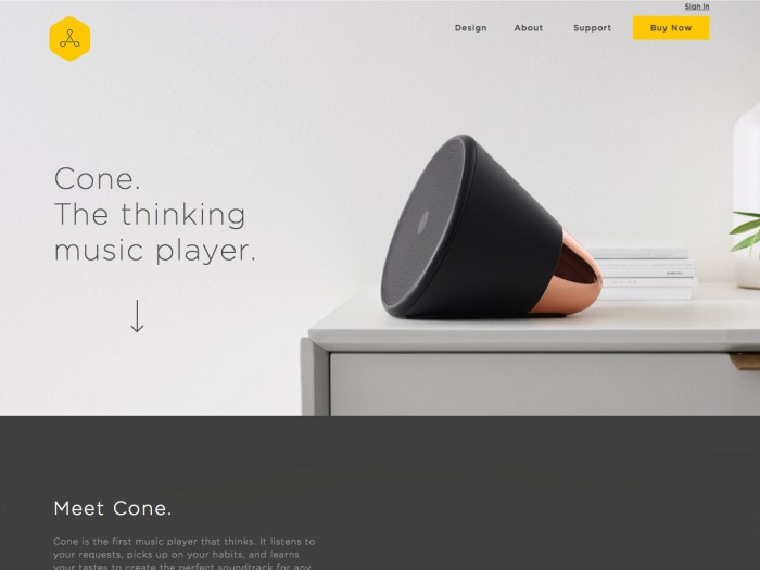 cone - landing page