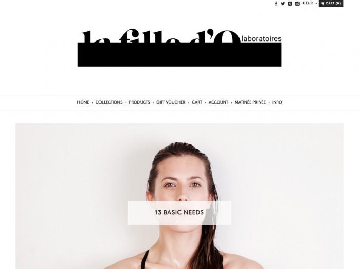 la fille d'o lingerie - category page