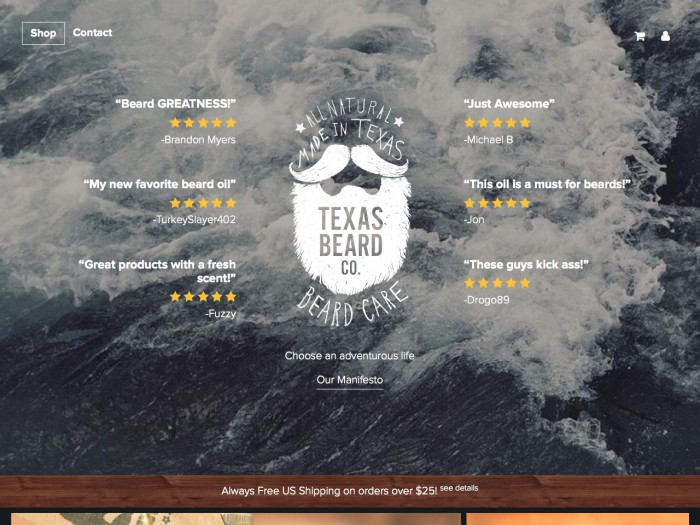 texas beard company - home page