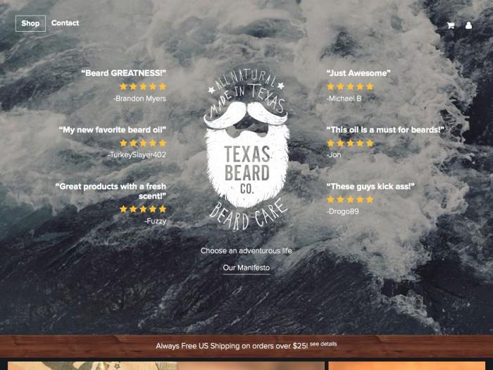 texas beard company - home page
