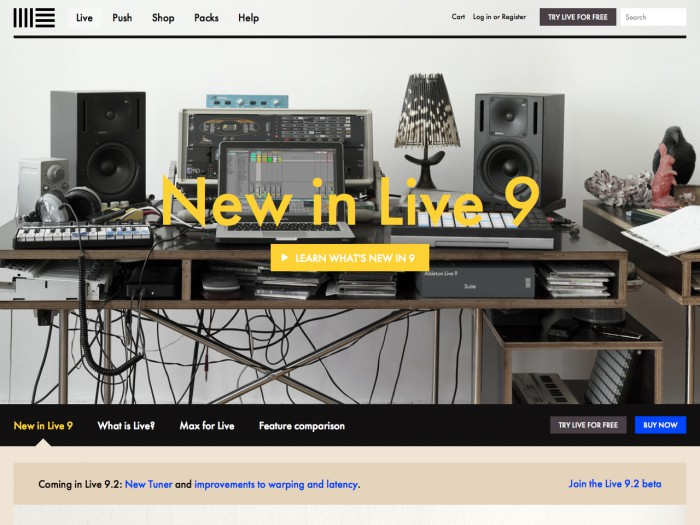 ableton - product page