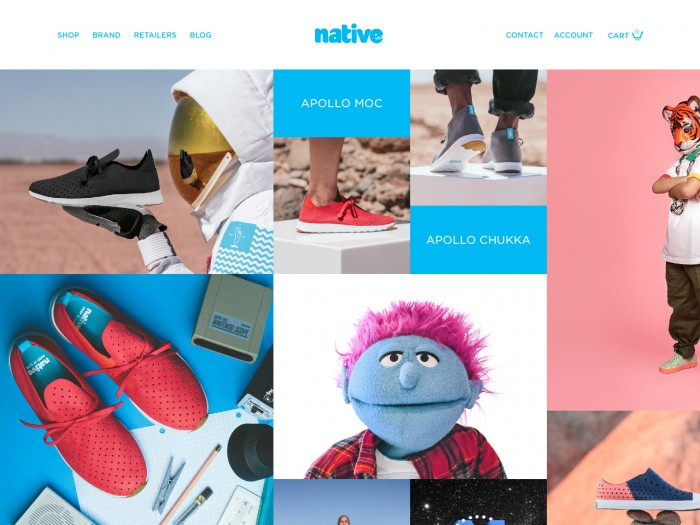 native shoes - home page