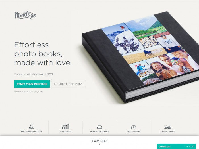 montage - landing page