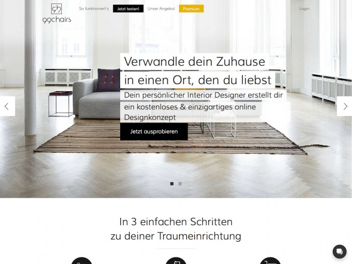99chairs - landing page